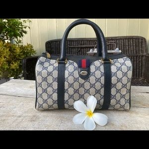 Authentic Gucci Vintage Sherry Boston Small Bag